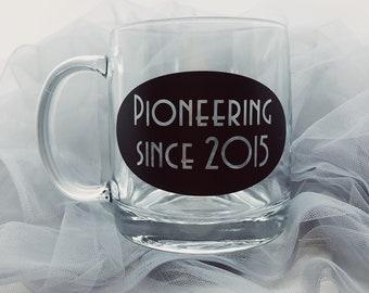 Pioneer Since..... Customizable Coffee Tea Cup Mug