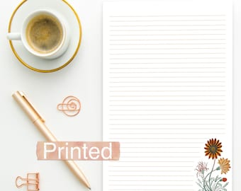 PRINTED JW Letter Writing Stationary Fall autumn floral theme BLANK