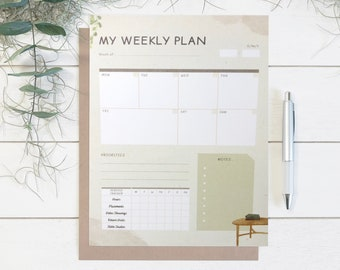 WEEKLY PLANNER | JW planner | field service tracker | weekly calendar | meal planner | to do list | planner notepad