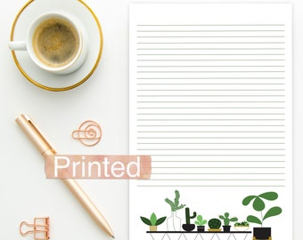 PRINTED JW Letter Writing Stationary House Plants Succulent theme BLANK
