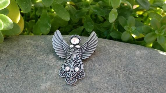 Christmas Gift of Rhinestones and an Angel Pin