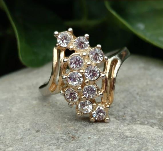 Crystal Vintage statement Ring, Rings, Engagement