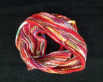 Multicolor cotton infinity scarf