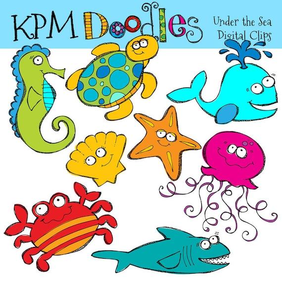 kpm under the sea clip art combo etsy rh etsy com under the sea clipart shapes under the sea clip art border