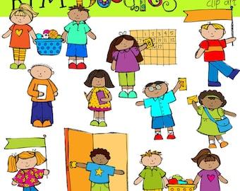 KPM  Classroom helpers jobs Digital Clip art COMBO