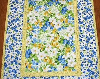 Spring Table Runner, Floral, Summer Runner,  handmade, quilted,  fabric from Moda Summer Breeze