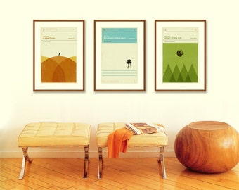 STAR WARS Inspired Poster, Art Print Movie Series - 12 x 18 Minimalist, Nursery, Graphic, Mid Century Modern, Vintage Style, Retro Home