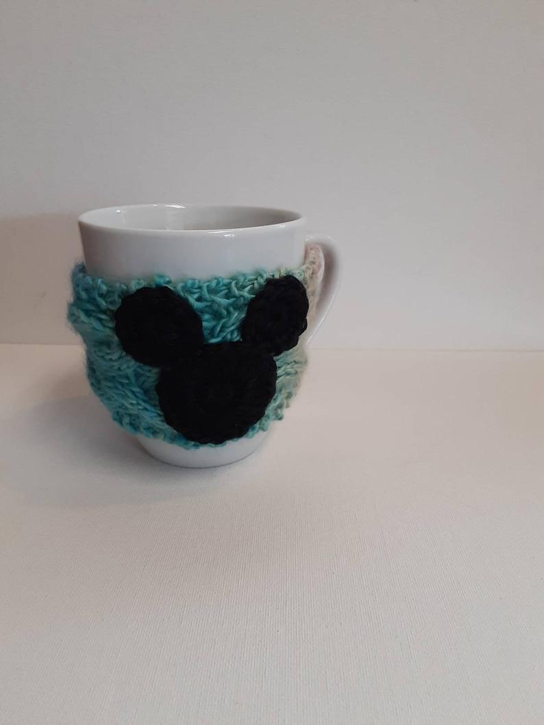 Pastel Unicorn Mickey Cable Knit Mug Cozy image 0