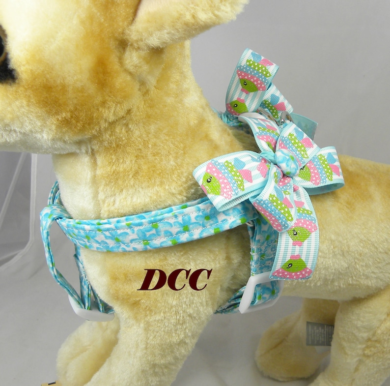 Dog Harness Custom Handmade STEP IN Dog Ergonomically Correct Adjusts from Opposite Ends Choose size and You pick the fabric 4 choices