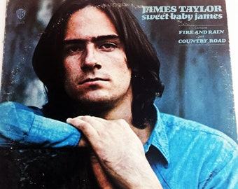 "Vintage James Taylor Sweet Baby James Record Vinyl LP 12"" Album 1970 Folk"
