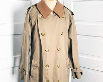95cad3721 Burberry London Mens' Trench Coat Size 38L Long Jacket with Liner Authentic