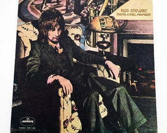 Vintage Rod Stewart Never a Dull Moment LP Record Vinyl Album Excellent 52347b5beda5