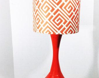 Orange Ceramic Lamp Etsy