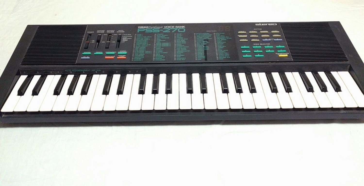 Vintage Yamaha Pss 270 80s Music Synth Keyboard Circuit Etsy Electronic 50