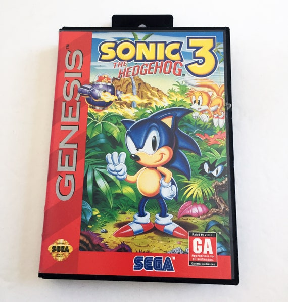 Vintage Sega Genesis Sonic The Hedgehog 3 Tested Excellent Etsy