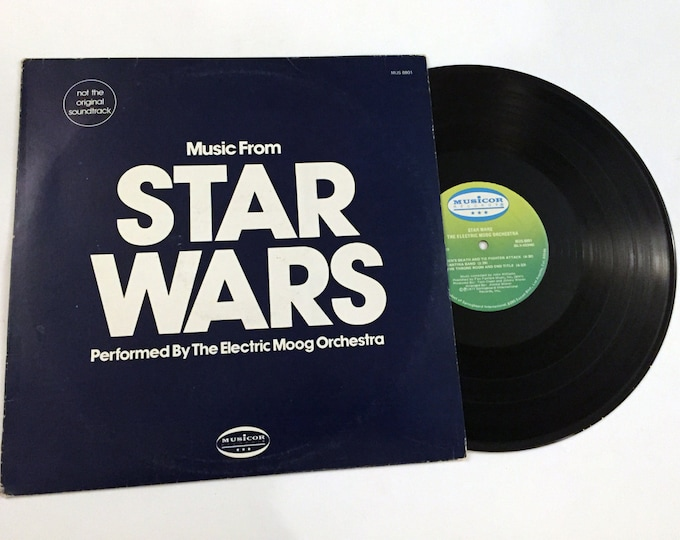 Vintage Electric Moog Orchestra: Music From Star Wars Soundtrack LP Record Vinyl 1977 Rare