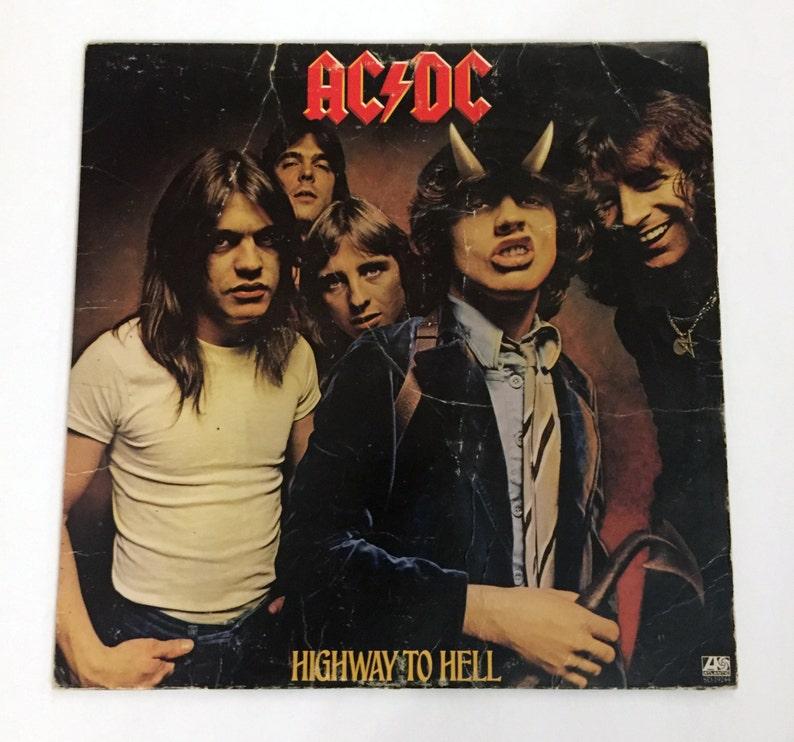 Original AC/DC Highway To Hell Vinyl Record LP 1979 Album ...