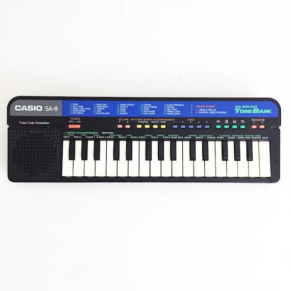 vintage casio sa 8 music synth keyboard circuit bending etsy rh etsy com