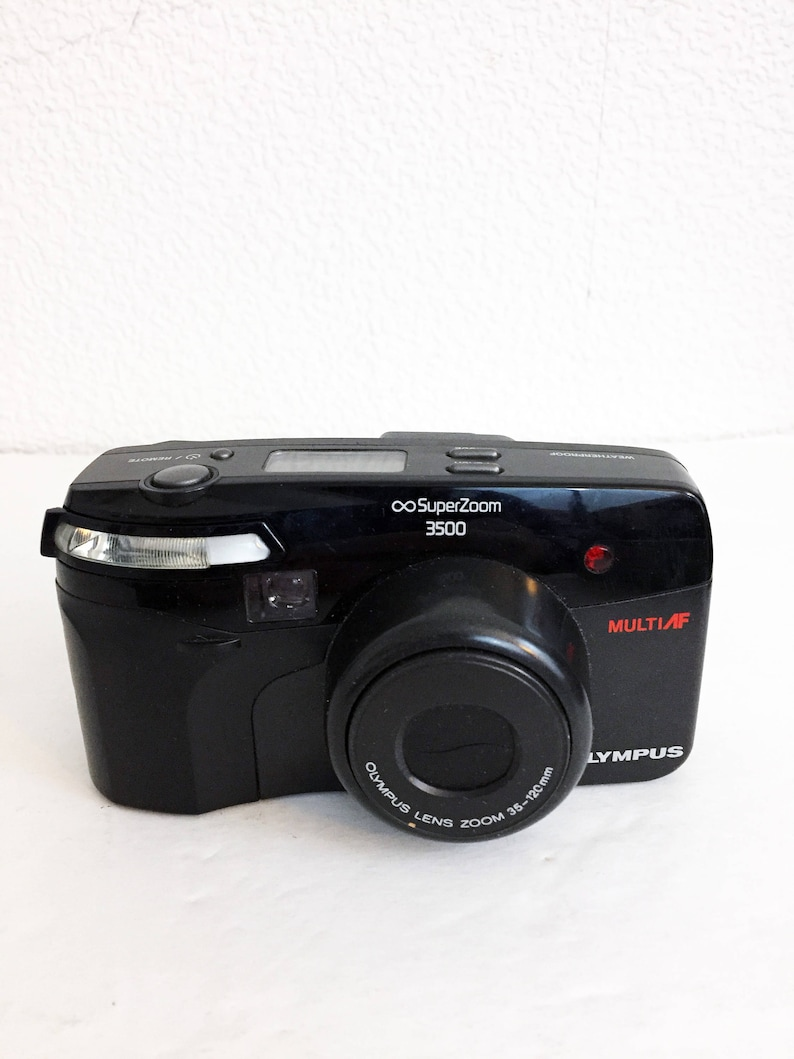 Vintage Olympus Super Zoom 3500 35mm Point Shoot Film Camera Tested Works  Autofocus Weatherproof