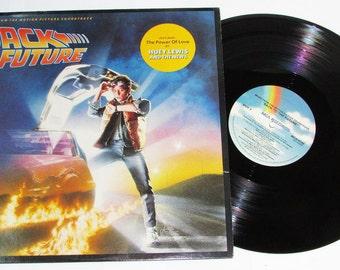 "Vintage Back to the Future Movie Soundtrack Record Vinyl LP 12"" Album"