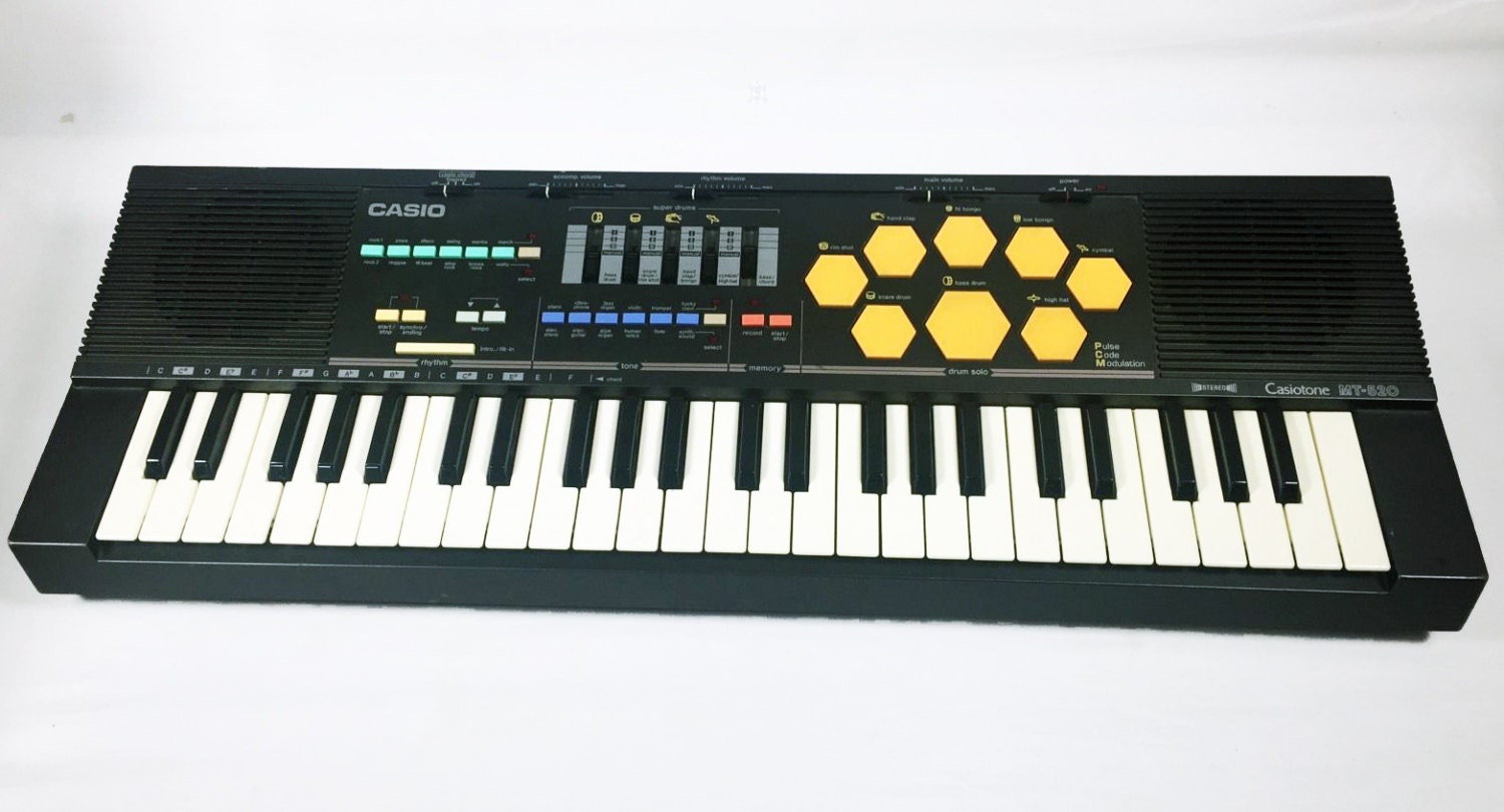 Vintage Casio Mt 520 Keyboard Synthesizer Circuit Bending Drum Etsy Theremincircuit