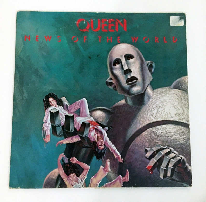 Vintage Queen News of the World 1970s LP Record Vinyl Album 12