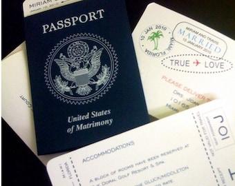 Authentic Passport Save-The-Date/Invitation