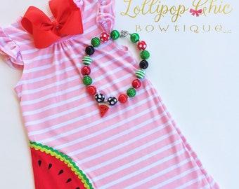 Watermelon birthday Summer Dress