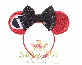 Incredibles inspired minnie mouse ear headband