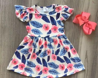 Soft Baby and girls summer Dress milk silk knee length