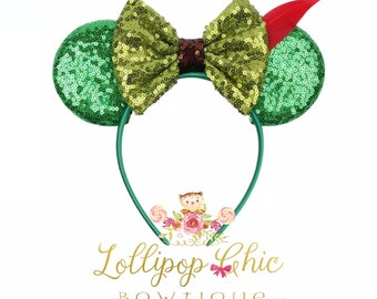 New! Peter Pan inspired minnie mouse ear headband