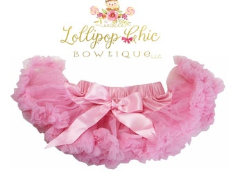 Infant pettiskirt light pink tutu with added adjustable waist
