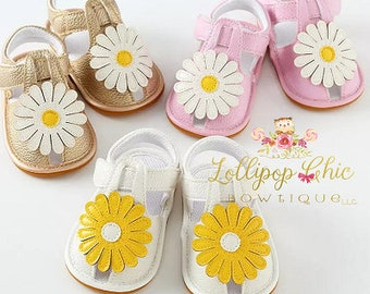 New! Daisy Summer Baby Sandals First walkers Moccasins