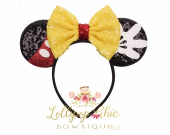 Restocked! Mickey Mouse inspired minnie mouse ear headband