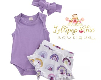 Rainbow Baby outfit Rainbow infant set Rainbow baby shower