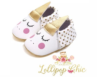 Restocked! Unicorn Moccasins Unicorn Baby Shoes