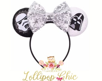 Restocked! Star Wars  inspired Minnie mouse ear headband