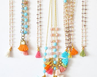 ab862bad99b9 Multi Jewelry Set - Frinze Bohemian Jewelry - Tassel Jewelry - Beaded  Jewelry - Gifts for Her - Girly Fashion - Free Shipping - Choose Yours