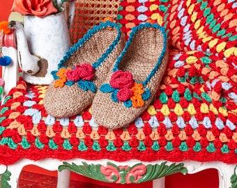 Little Box of Crochet Pattern Booklet- Bohemian Dreams Slippers by Eclectic Gypsey