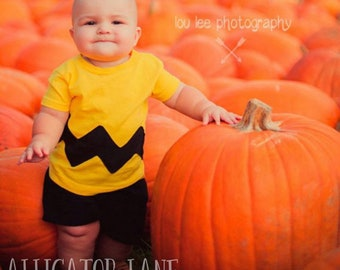 Charlie Brown Costume Charlie Brown Shirt Charlie Brown Birthday Shirt Halloween Costume Chuck Toddler Baby Shirt