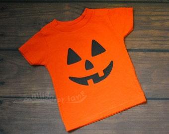 Pumpkin Shirt Halloween Orange Boys Toddler Jack O Lantern Shirt Pumpkin Costume