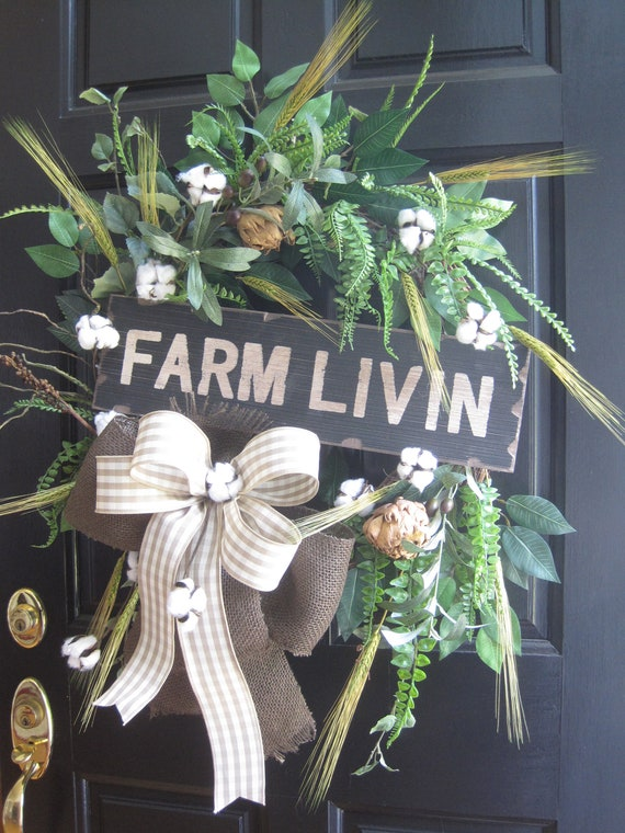 Farmhouse Wreath Wreath For Front Door Xl Mantelfireplace Etsy