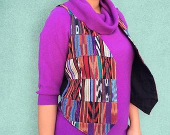 Vintage 1990's Aztec Print Multicolored Vest