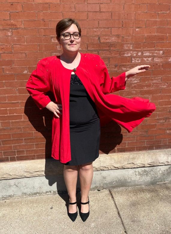 Rising Star Red Studded Light Jacket