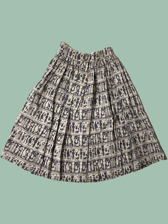 Hieroglyphics Grey Skirt
