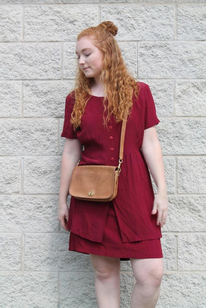 Vintage Button Down Maroon Dress