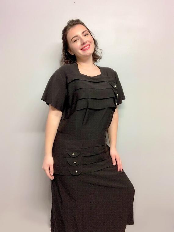 Vintage Maxi Black Dress