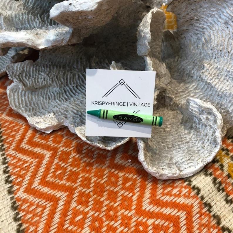 Vintage unique green crayon pin