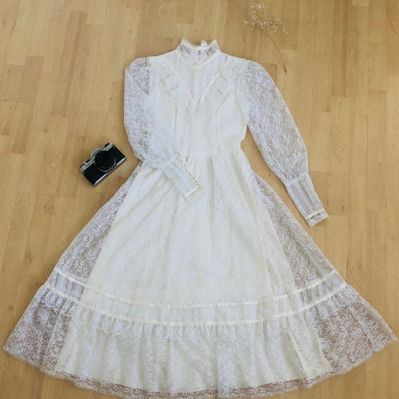 Dreamy 1970s Lace Dress