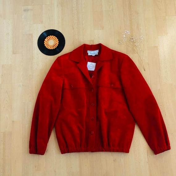 Vintage Suede Red Jacket
